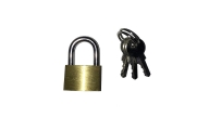 PADLOCK BRASS 25MM WITH 2KEYS