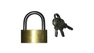PADLOCK BRASS 35MM WITH 2KEYS