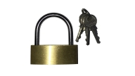 PADLOCK BRASS 60MM WITH 2KEYS